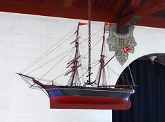 Boat in the church at Stevns Klint in Denmark (albatz) Tags: denmark church interior chalkcliffs stevnsklint edge ocean boat model