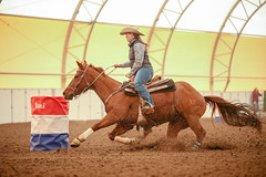 Becky (wysharp) Tags: barrelracing cowgirl horse