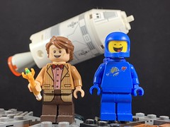 2019-113 - Impossible Astronaut Day (Steve Schar) Tags: 2019 wisconsin sunprairie iphone iphonexs project365 lego minifigure benny doctorwho eleventhdoctor spaceship apollo impossibleastronautday