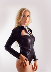 Julie (Tex Texin) Tags: model sanfranscisco skintie westcoastleather designer fashion girl female blonde leather portrait julie matthews