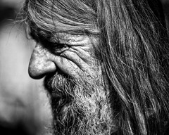 the patterns of life (gro57074@bigpond.net.au) Tags: profile thepatternsoflife f28 70200mmf28 nikkor d850 nikon guyclift bw monochromatic monotone monochrome mono blackwhite outback nsw lightningridge beard man candid portrait