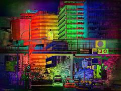Light-up the City (Lemon~art) Tags: photomanipulation colour dark bright wellington