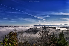 from San Gimignano (Siena) (Eugenio GV Costa) Tags: approvato campagna nuvole cielo alberi countryside clouds sky trees outside