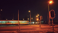 P1030262hsvf (hans hoeben) Tags: tram turning point sniep diemen holland reprocessed old work motion night modus panasonic lx2 lumix dmc de before new infrastructure 9 hansheld compact serious