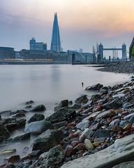 London Shore (JH Images.co.uk) Tags: hdr dri london river riverthames rocks shard towerbridge bridge reflection sk