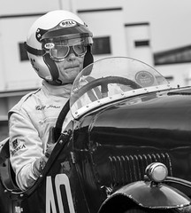 Pensive (tom ballard2009) Tags: goodwood sussex cars motor motorsport racing speed sport sprint track vintage mono blackwhite blackandwhite driver fiat balilla