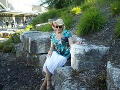 Different Year (2010); Different Fair (Laurette Victoria) Tags: skirt hat woman laurette blonde sunglasses westallis wisconsin statefair