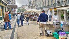 main street (albyn.davis) Tags: lisbon portugal europe travel urban city people street shopping buildings storefronts colors