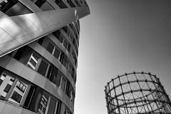Modern and Old (Leipzig_trifft_Wien) Tags: berlin deutschland gasometer steel structure black white architecture modern urban city monochrome