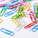 Paper clips on white background