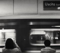 Turin Metro. (giuselogra) Tags: metro metropolitana torino turin streetphotographer street streetphotography streetphoto strada streetlife blackandwhite grey biancoenero piedmont piemonte italy italia