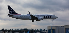 SP-LVG LOT - Polish Airlines Boeing 737-8 MAX (Niall McCormick) Tags: paine field splvg lot polish airlines boeing 7378 max