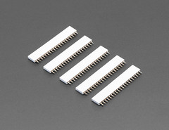 "20-pin 0.1"" Female Header - White - 5 pack (adafruit) Tags: 4155 femaleheader headers white 20pinheaders 20pinfemaleheaders accessories electronics addons diy diyelectronics diyprojects projects new newproducts"