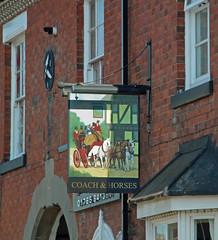 English Pub Sign - The Coach & Horses, Staffordshire (big_jeff_leo) Tags: pub pubsign painted publichouse sign england english streetart street