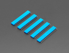 "20-pin 0.1"" Female Header - Blue - 5 pack (adafruit) Tags: 4156 femaleheaders headers 20pin 20pinfemaleheaders blue accessories electronics new newproducts"