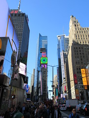 2019 Mood Lighting Number One Times Square Building 6782 (Brechtbug) Tags: 2019 mood lighting number one times square building morning with waterford crystal ball turned off its pole new york city looking south nyc broadway architecture eve holiday buildings signs year years ad electronic billboard 04242019