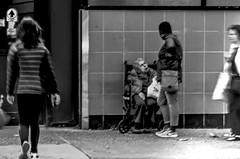 Blurred effect (Capitancapitan) Tags: elder people manhattan nyc new york city neury luciano merengue pop rock urim y tumim el mundo gira pentax black white walking iphone apple