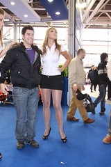 motorshow promoter (themax2) Tags: bologna tights shiny promoter pantyhose motorshow miniskirt legs hostess high heels girl cfm shoes 2009 highheels cfmshoes