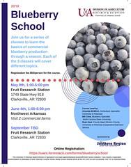Blueberry School PDF Flyer (uacescomm) Tags: universityofarkansassystemdivisionofagriculture blueberry school mcwhirt clarksville fruit research station