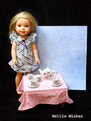 Wellie Wisher Tea Party (M.P.N.texan) Tags: doll vinyl welliewisher toy americangirl thriftstore teaset vintage ceramic toys