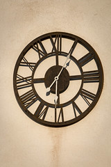 Clock (Crisp-13) Tags: wall clock roman number numerals outside exterior