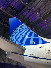 New United Livery - tail close up (airbus777) Tags: unitedairlines livery priestmangoode boeing 737800 ua