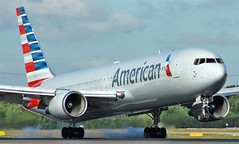 N379AA (AnDyMHoLdEn) Tags: americanairlines 767 oneworld egcc airport manchester manchesterairport 05r