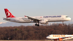 Airbus A321 -231 TURKISH AIRLINES TC-JRJ 3429 Genève février 2019 (Thibaud.S.) Tags: airbus a321 231 turkish airlines tcjrj 3429 genève février 2019