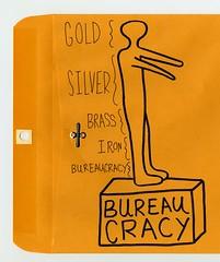 Bureaucracy (Daniel Ari Friedman) Tags: color yellow manilla folder bible black drawing draw doodle sketch paper ink pen philosophy science cartoon