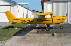 OY-CGZ - Roskilde (RKE) 26.04.1997 (Jakob_DK) Tags: c150 f150l reimscessna cessna reimscessnaf150 cessna150 reimscessnaf150l ekrk rke roskildelufthavn roskildeairport copenhagenroskildeairport 1997 oycgz centerair
