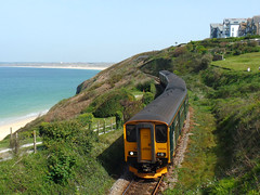 150234 & 150244 Carbis Bay (8) (Marky7890) Tags: gwr 150234 class150 sprinter 2a27 carbisbay railway cornwall stivesbayline train