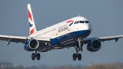 British Airways | Airbus A321 (lee adcock) Tags: a321 airbus britishairways geuxg manchester manchesterairport nikond500 runway05r sht2l tamron150600g2