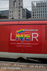 Celebrating Diversity (CS:BG Photography) Tags: class91 electra lner londonkingscross intercity225 91121 ecml eastcoastmainline londonnortheasternrailway kingscross kgx london trainbow celebratingdiversity pride pridene loveislove