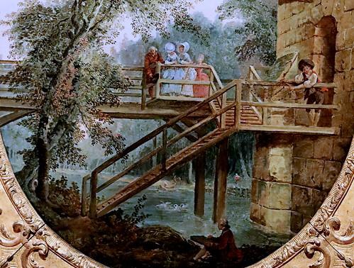 IMG_2050C Hubert Robert 1733-1808 Paris La passerelle The footbridge 1775 Madrid  Musée Thyssen Bornemisza