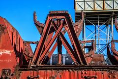 Faded, Rusty, Red Railway Stuff (Johann (Still Me!)) Tags: voorbaai red rustyred fadedred railway oldstuff abandoned rustyandcrusty pspprisesurpriserougered johanndejager ef24105mmf4lisiiusm canoneos5dmarkiv simplysuperb