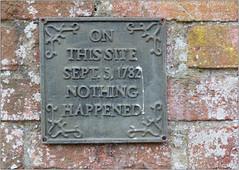 On This Site (Mabacam) Tags: 2019berkshire maidenhead hurley hurleyvillage wall brickwall bricks plaque onthissite