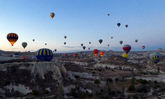 Cappadocia balloons (LeelooDallas) Tags: asia europe turkey göreme goreme cappadocia landscape rock dana iwachow dragoman overland silk road trip october 2018 hot air balloon flight morning
