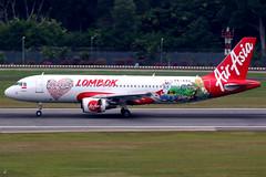 Indonesia AirAsia | Airbus A320-200 | PK-AXU | Lombok livery | Singapore Changi (Dennis HKG) Tags: aircraft airplane airport plane planespotting canon 7d 100400 singapore changi wsss sin airasia indonesiaairasia awq qz airbus a320 airbusa320 pkaxu