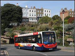 36858, Madeira Walk (Jason 87030) Tags: e200 loop thanet red white blue orange hill steep oad ramsgate kent southeast eastkent hilly shot bus loopy lobes buses wheels paint logo sticker stagecoach 36858 madeirawalk session sunny light april 2019