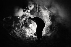 Devils Gold 3 (jrockar) Tags: indonesia java kawah kawahijen ijen documentary travel photography mining miners sulphur volcano bnw bw mono blackandwhite candid instant steam work people life oncearoundthesun ordinarymadness ordinary madness jrockar janrockar canon 5d mk3 mkiii 5d3 1740 l night caldera rough hard