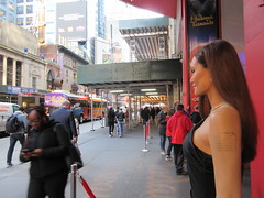 Wax Angelina Jolie sidewalk display Madame Tussauds 7147 (Brechtbug) Tags: wax angelina jolie sidewalk display madame tussauds 42nd street midtown manhattan museum nyc 04252019 new york city 2019 birthday royal uk england brit britain british tussaud s mannequin mannequins dummies dummy