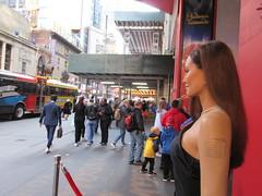 Wax Angelina Jolie sidewalk display Madame Tussauds 7145 (Brechtbug) Tags: wax angelina jolie sidewalk display madame tussauds 42nd street midtown manhattan museum nyc 04252019 new york city 2019 birthday royal uk england brit britain british tussaud s mannequin mannequins dummies dummy