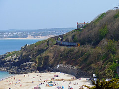 150234 & 150244 Porthminster Beach, St Ives (Marky7890) Tags: gwr 150234 class150 sprinter 2a31 stives railway cornwall stivesbayline train porthminsterbeach