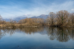Cycleway along the Adda river (clodio61) Tags: adda brivio europe imbersago italy lecco lombardy march architecture color cycleway day exterior landscape outdoor photography river water winter