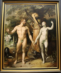 De zondeval, Cornelis van Haarlem, 1592 (andrevanb) Tags: amsterdam rijkmuseum art 16thcentury painting zondeval fallofman cornelisvanhaarlem 1592 adam eve paradise