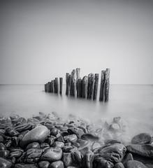 Defenceless (grbush) Tags: sea seascape seadefences seaside coast coastline ocean rocks water longexposure blackwhite bw monochrome somerset porlock porlockweir sonyilce7 tokinaatx116prodxaf1116mmf28 england