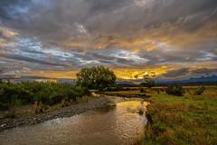 Hobbit Movie Scenery Rest Stop (StarCitizen) Tags: newzealand hobbitmovie river sunset clouds tree