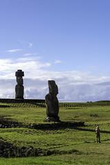 A Sense of Proportion (Michael Laudij) Tags: michaellaudij easterisland isladepascua rapanui chile southpacific southamerica polynesia pacific ocean island ahutahai koteriku moai headsofmoai unesco heritage history legend legendary statue monument nikon d850