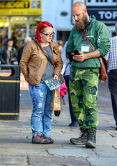 Every penny count's (Trueview58) Tags: durham candid camouflage redhair beard bald charity tigers street canon greenpeace environment amsterdam netherlands gmofreefoodworld sansogm