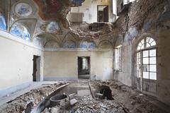 Villa Zobolo (Sean M Richardson) Tags: abandoned villa architecture decay details texture italia collapse canon photography explore travel urbex ruins light color painting mural